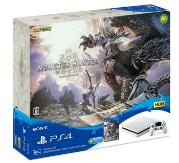 PS4 PlayStation4 MONSTER HUNTER: WORLD Starter Pack White